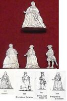 Kaiserin Maria-Theresia + drei ihrer Kinder - 4 Fohler Zinnfiguren 30mm - blank