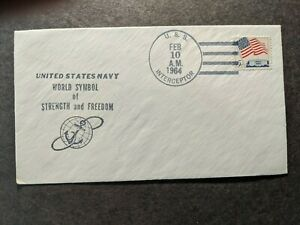 USS INTERCEPTOR YAGR-8 Naval Cover 1964 Cachet