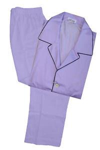 Brioni Men's Solid Lavender Purple 100% Cotton Pajamas