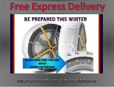 MULTI GRIP CAR ICE SNOW SOCKS CHAINS TO FIT TYRE SIZE 185 / 50 R16 + FREE GLOVES