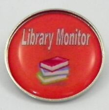 Library Monitor Metal Pin Badge With Brooch Fitting - Pack of 10