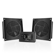 """New listing Airplate T8, Cooling Dual-Fan System 6"""" with Thermostat, Home Theater Av Cabinet"""