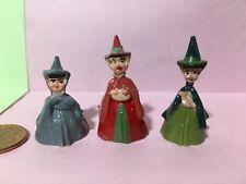 Marx Disneykins Flora Fauna Merryweather plastic Disney Sleeping Beauty figures