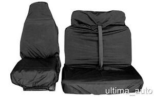 FORD TRANSIT VAN BLACK WATERPROOF FRONT SEAT COVER PROTECTORS SINGLE & DOUBLE