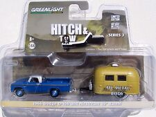 HITCH & TOW SERIES 3 1966 DODGE D-100 PICKUP TRUCK & AIRSTREAM 16' BAMBI CAMPER