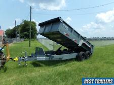2021 Tuff Dump 7 X 16 Dump Trailer Equipment Ramps 2 Way Gate Twin Cylinder