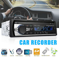 Car Stereo MP3 Player Bluetooth WMA AUX USB TF SD FM Radio Audio w/Handsfree MIc