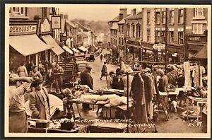 ROSS-ON-WYE postcard The Market in Broad Street