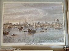 Ancien encadrement de gravure «vue de Londres sud Est 1550» bel objet en main