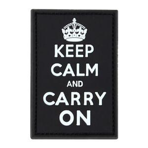 Condor Keep Calm & Carry On Morale Patch - Black - Hook & Loop