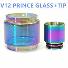 TFV12 Prince Rainbow Glass Tube&Stainless 810 Drip Tip For Smok V12 Prince Tank
