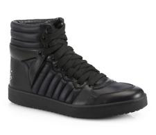GUCCI 322762 Mens Black Hudson High Top Black Sneakers 7659 Size 8.5 G