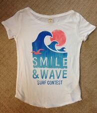 Juniors Hollister Graphic Top-Size XS