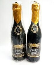 """Champagne Bottle Party Cannon X2 Wedding  Party Confetti 13"""" Popper"""