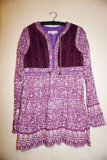 Christophe Sauvat Bebe print tunic blouse cotton size S purple floral print NWT