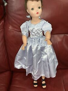 Vintage Satin Blue Dress For Cissy Miss Revlon