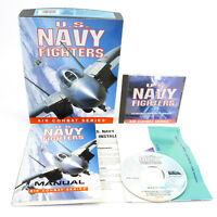 U.S. Navy Fighters for PC CD-ROM in Big Box by Electronic Arts, 1994, CIB, VGC