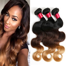 8A Brazilian Body Weave T1B/4/27# Ombre 100% Virgin Human Hair Extension Wefts