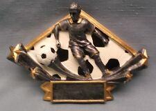 male soccer resin plate award trophy diamond DSR15