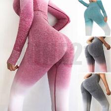 Women Seamless Yoga Fitness Leggings Workout Gym Sports High Waist Pants Trouser