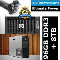 HP Workstation Z800 Xeon X5670 12-Core 2.93GHz 96GB RAM 8TB SAS DISK+ 240GB SSD