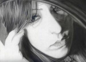 Ritratto su commissione da foto a matita carboncino Ritratti da foto Realistici