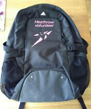 LONDON 2012 OLYMPICS HEATHROW VOLUNTEER BACKPACK [ BLACK ] ADIDAS.