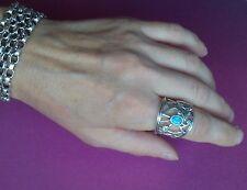 BEAUTIFUL BARRY KIESELSTEIN CORD STERLING SILVER BUTTERFLY TOPAZ RING SZ 9 NEW