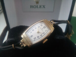 BEAUTIFUL RARE LADIES 1933 SOLID 9K GOLD ROLEX WATCH VERY GOOD CONDITION & BOXED
