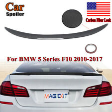 Painted Rear Boot Abs Spoiler For Bmw 5 Sreies F10 P Style Carbon Black 2010-16