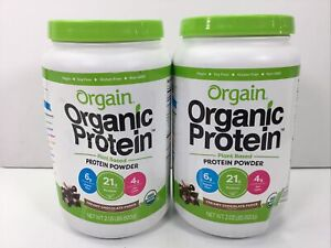 Orgain, Organic Protein Plant Based Powder, Creamy Chocolate Fudge, 2 Lb, 2 Pack