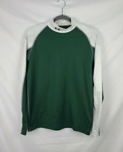 Under Armour Fitted Cold Gear Green Long Sleeve Shirt sz M