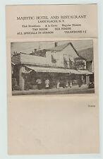 RARE 1920 Advertising Folding Letter Map Majestic Hotel Restraunt Lake Placid NY