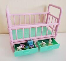 2000 Mattel Barbie Zoo Babies Chika Chimp Crib & Accessories Toys