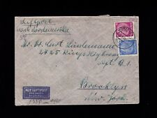Germany WWII Judaica Sara Wurzburg 1940 Multiple Censor to USA Cover & Letter 4l