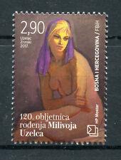 Bosnia & Herzegovina 2017 MNH Milivoj Uzelac 120th 1v Set Art Paintings Stamps
