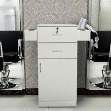 Locking Beauty Salon Storage Cabinet Hair Dryer Holder Stylist Equipment White