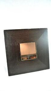 IKEA Malma Framed Wood Mirror Black Stain Finish DISTRESSED LOOK