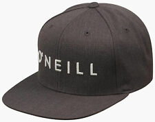 Oneill mens Skate Surf YAMBAO black heather baseball snapback hat one size NEW