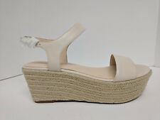 Nine West Flownder Leather Wedge Sandal, Off White, Womens 12 M