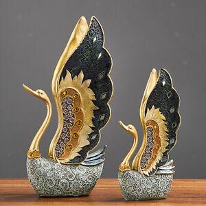 Swan Statue Home Decor Sculpture Modern Art Ornaments Wedding Gifts Resin Statue