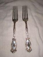 Simeon l. george h. rogers silverplate flatware 2 Forks Pat.Apr.12.05