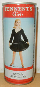 TENNENT'S SUSAN All Dressed Up GIRL Steel can from SCOTLAND (44cl)