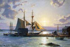 John Stobart Print - Sunset Over the Westport River in 1862