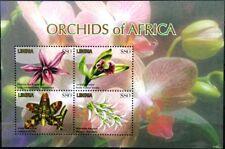 LIBERIA 2011 Klb 5989-92 Block 609-10 Orchideen Orchids Blumen Flowers MNH