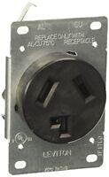 Leviton 30A Flush Mount Black 10-30R 3-Wire Dryer Power Outlet