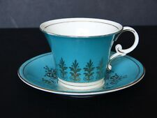 Vintage Aynsley CHINE FINE TURQUOISE & OR Duo Corset cabinet Tasse à Thé & Soucoupe