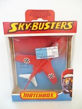 MATCHBOX SKYBUSTERS SB11 GERMAN ALPHA JET PLANE. RED MIB/BOXED VINTAGE