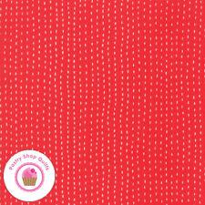 Moda AHOY 48246 17 Red Ticking GINGIBER Quilt Fabric CHILDREN'S Nautical