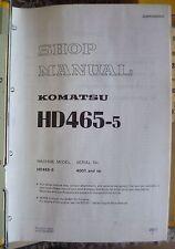 Komatsu Dumper hd465-5 taller de libro de mano